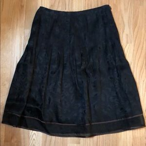 Kay Unger Black Silk Skirt